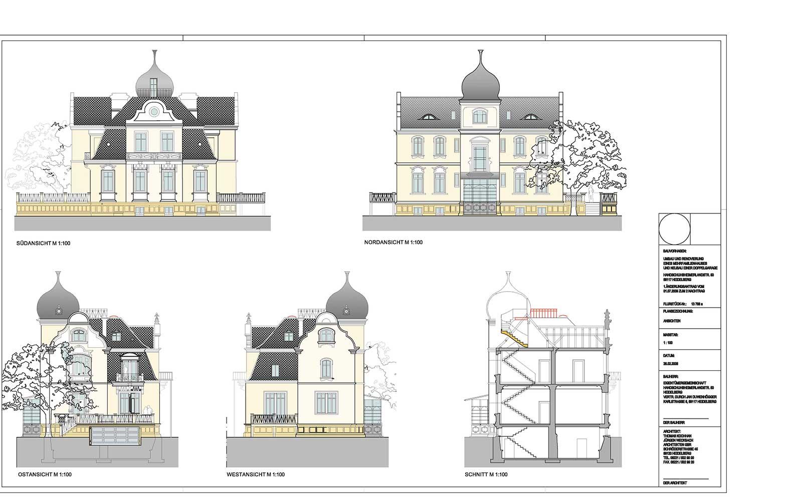 Behaghelvilla in Heidelberg, Architekturbüro: Kochhan und Weckbach