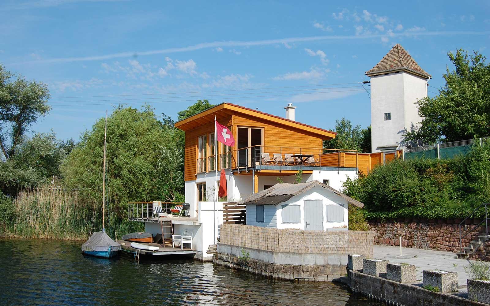 Blaue Adria in Altrip, Kochhan und Weckbach Architekten Heidelberg