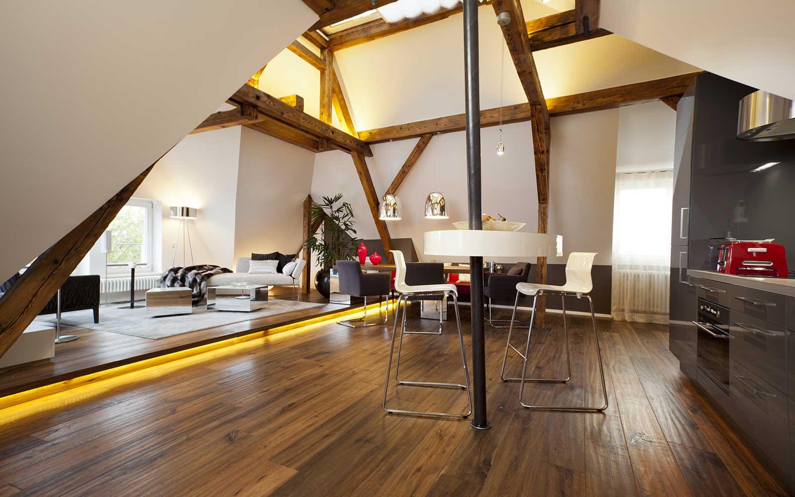 Dachstudio am Neckar in HD Neuenheim, Kochhan und Weckbach, Architekt Heidelberg
