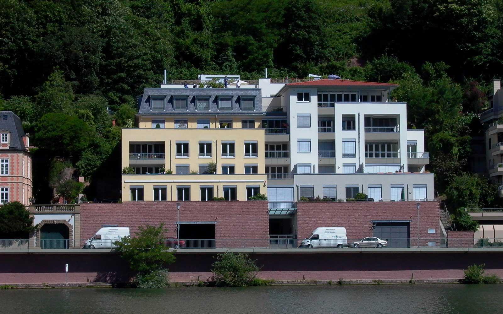 Eigentumswohnungen am Neckar, Architekt Heidelberg