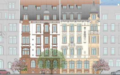Jugendstil Architektur in Heidelberg Neuenheim, Kochhan und Weckbach