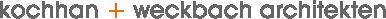 kochhan + weckbach Architekten Heidelberg Logo