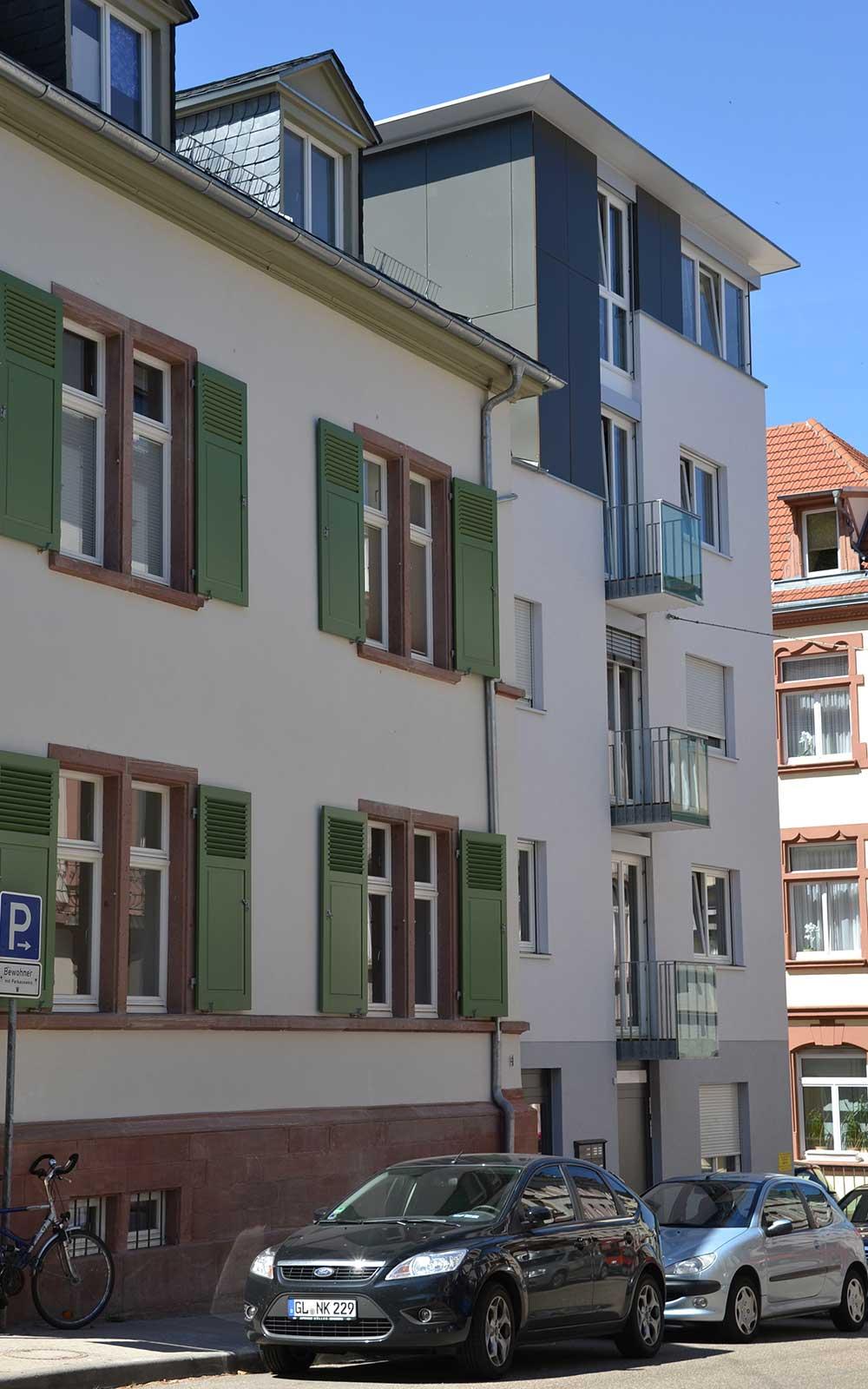 Mehrfamilienhaus in der Weststadt Heidelberg, Architekturbüro Kochhan und Weckbach