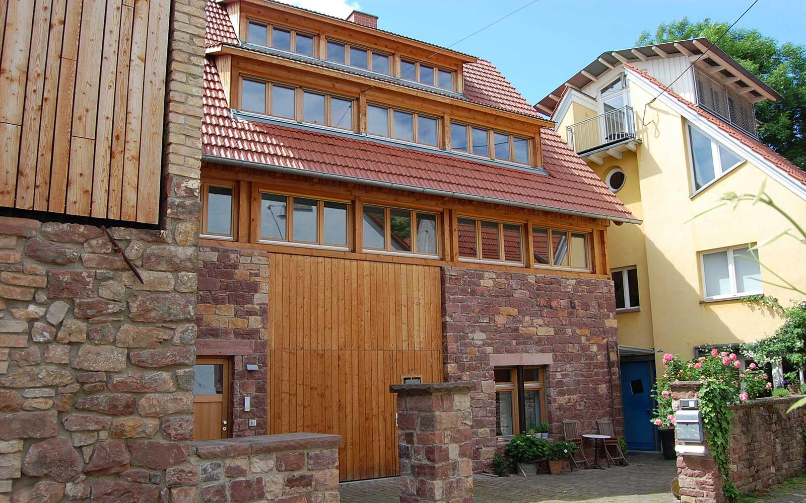 Scheunenausbau in Heidelberg Handschuhsheim, Kochhan und Weckbach