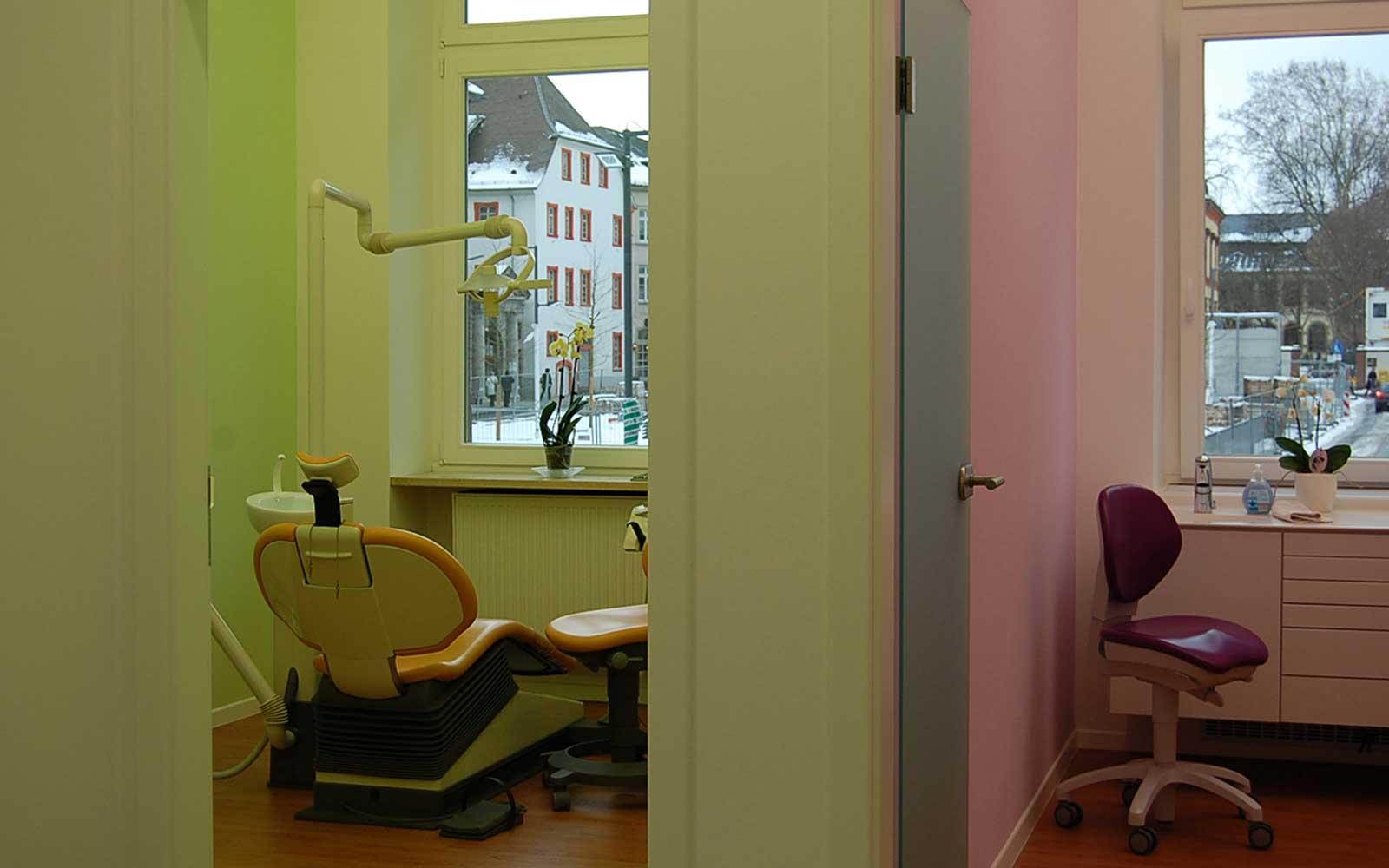 Zahnarztpraxis Friedrich Ebert Anlage, Architektur Heidelberg
